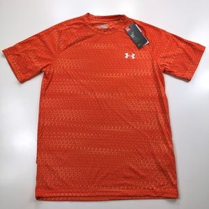 Under Armour Orange Athletic Fitness Shirt Small